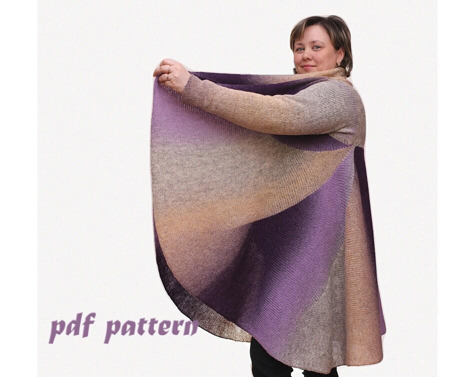 KNITTING PATTERN Women cardigan Pattern oversize sweater