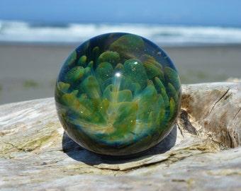 MIB Lampwork Implosion Marble