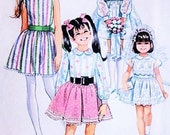 CUTE 1960s Simplicity 8171 Kawaii Toddler Little Girls Party Flower Girl Dress Vintage Sewing Pattern Size 4 UNCUT
