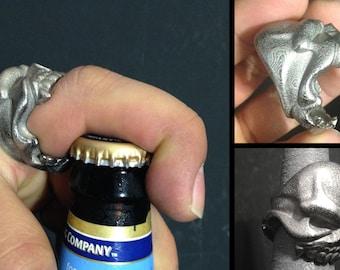 Reaper Skull Bottle Opener Ring