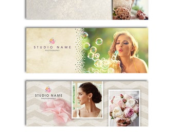 Facebook Timeline Templates - Photography Marketing - Three Pack - 1064