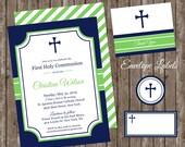 Boys First Communion Invitation/Boys Communion Invite/Confirmation Invite/First Holy Communion Invitation/1st Communion/Boys Baptism Invite