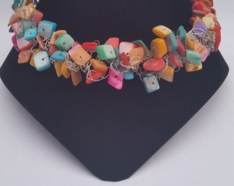 Crocheted Bead Necklace