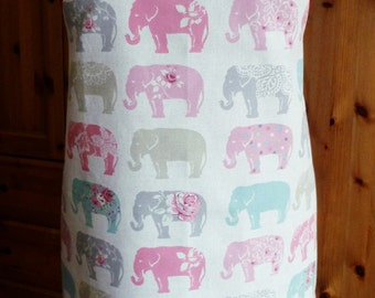 full length apron - elephants print