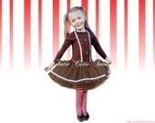 Gingerbread Girl Tutu Christmas Dress
