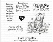 CAT Sympathy cling stamp set Our Daily Bread Designs  CAT PET