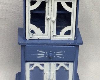 Dollhouse Miniature Metal Hutch in 1/2 Scale