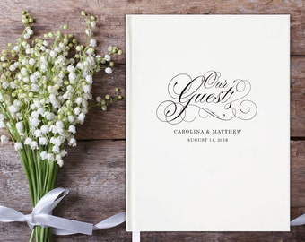 Our Guests Wedding Guest Book; Personalized, Script