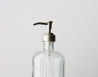 Recycled Glass Soap Dispensers with Beach Cottage stainless Pump
