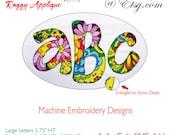 Applique Alphabet Ver 15 Machine Embroidery Designs BX Format Monogram Fonts Digital Download