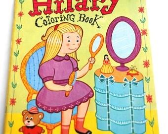 Vintage Children's Coloring Book, Hilary