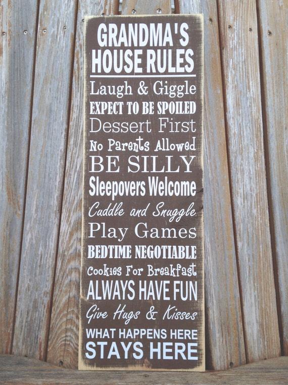 Mother's Day Grandma Gift Grandma's Rules