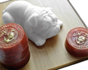 Military Soap Set / US Marine Corps Emblem Soap / Bulldog Soap / Eagle Soap / Flag on Iwo Jima Soap