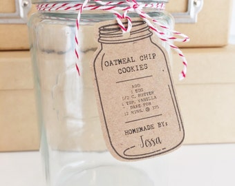 Custom Food in a Jar Hang Tags. Cookie in a jar Mix Labels. Mason Jar Food Labels. Custom Mason Jar Food Tags. Wedding Favors