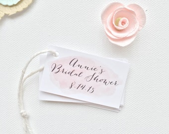 Bridal shower Baby Shower Thank You Favor Tags. Watercolor Pink Favor Tags. Custom Party Favor Tags. Wedding Tags. Favor Tags Birthday