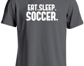 Soccer T Shirt-Eat Sleep Soccer Shirt-Soccer Gift