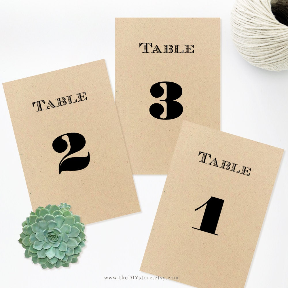 table numbers 4x6 diy text editable template wedding. Black Bedroom Furniture Sets. Home Design Ideas