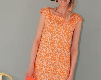 """A line dress """"STOCKHOLM"""" ORANGE"""