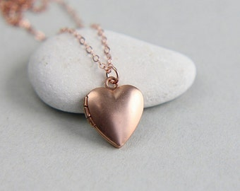 Personalized Heart Locket, Heart Locket Necklace, Tiny Locket Necklace, Rose Gold Locket, Heart Necklace, Initial locket, Monogram Necklace