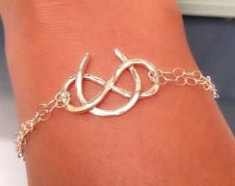 Good Luck Bracelet, Sterling Silver Horse Shoe Bracelet, horse shoe bracelet, sterling silver infinity bracelet, Infinity Bracelet