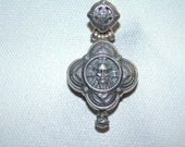 Sterling Silver Cross Jesus Locket Saint Orthodox Catholics Religious Reliquary Shrine Chasse Container Relics Pendant Christ 925