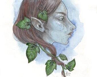 Elven Girl - original illustration