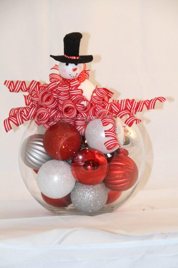 Items Similar To Christmas Bubble Bowl Centerpiece Black