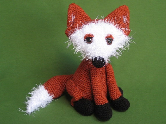 Amigurumi Woodland Animals Patterns : Fox Amigurumi Woodland Animal Toy Crochet Pattern PDF