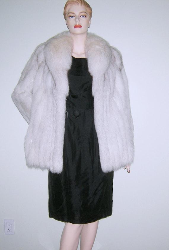 SAGA FOX Fur Coat NORWEGIAN Blue Fox Jacket Real Genuine