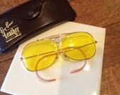 Vintage B&L Ray Ban Kalichrome Yellow Shooter Decot Aviator Sunglasses