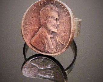 Upcycled Copper Penny Ring