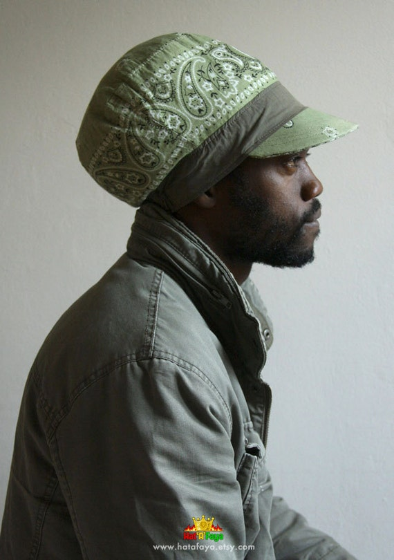 BANDANA Lightweight hat for dreadlocks Cotton Rasta by ... Dreadlock Hats For Men