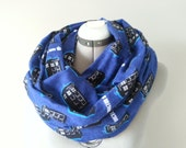 Dr. Who tardis Scarf Flannel Infinity Scarf