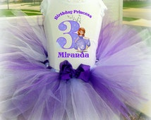 Sofia the First Tutu Outfit with Removable Bow