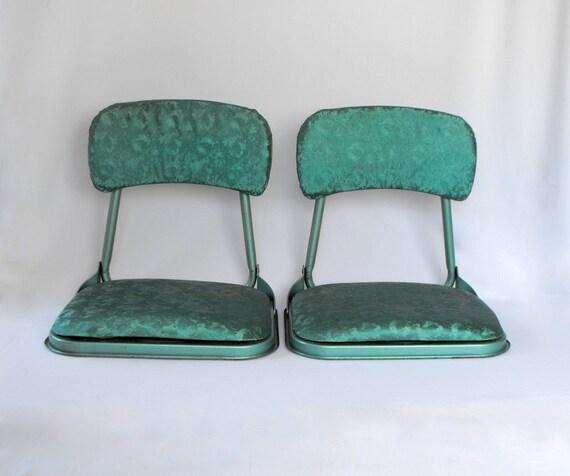 Vintage Stadium Lights: Vintage Stadium Chairs Folding Bleacher Seats Teal Mid