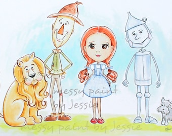 Wizard of Oz, Nursery Art Print, Childrens Wall Art Print