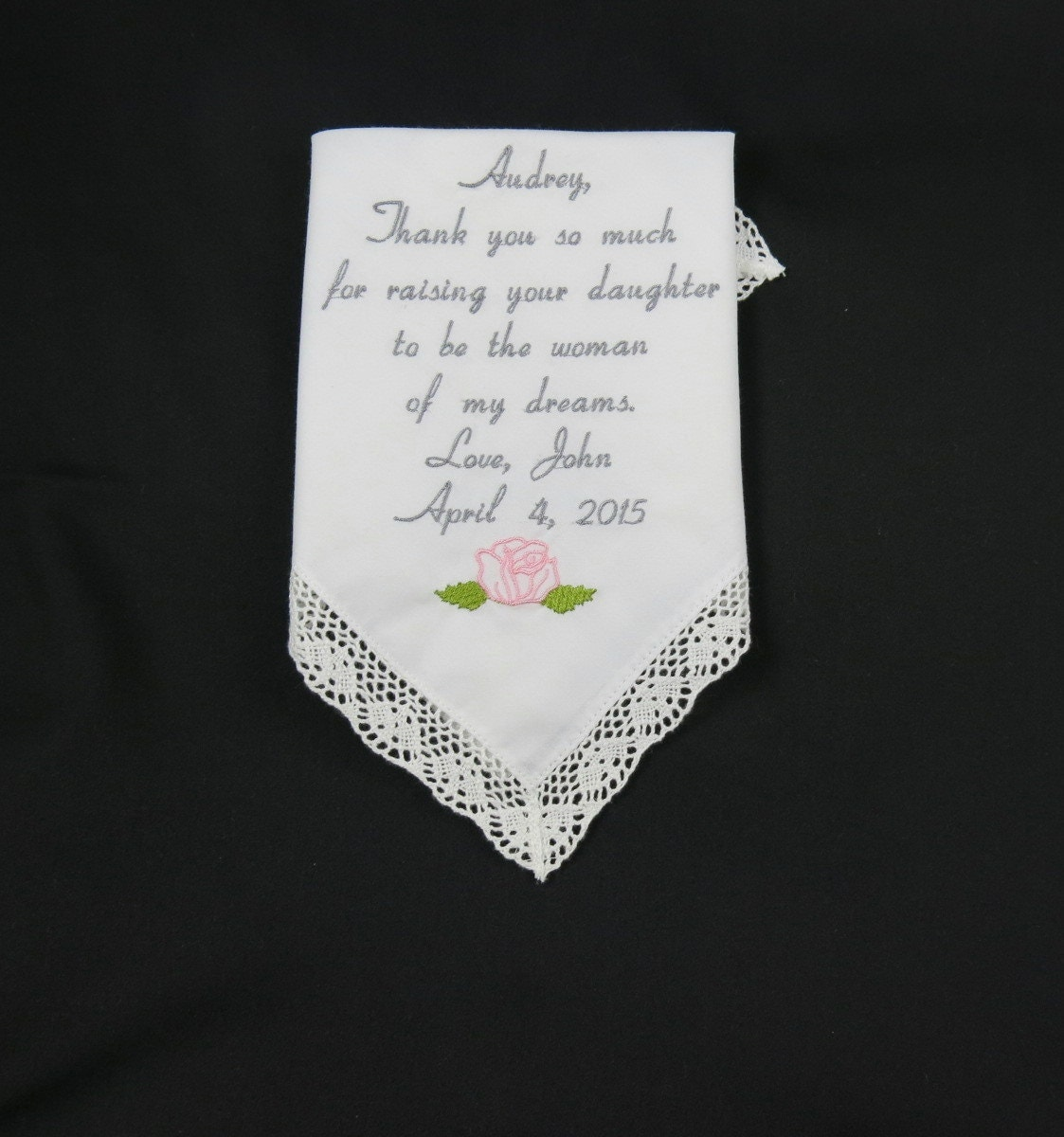 Wedding Gifts Mother Groom : Wedding Gift to Mother of the bride from Groom personalized
