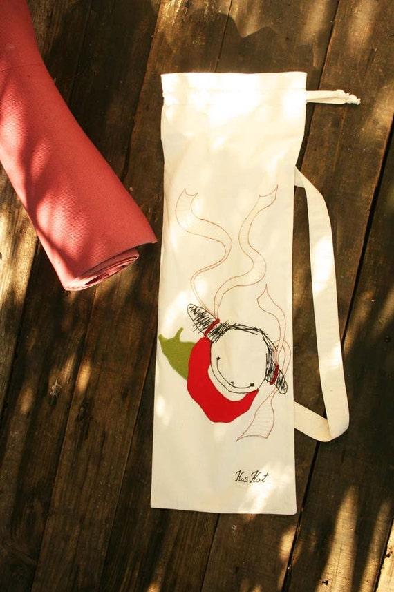 Natural Yoga Mat Bag Poissondrieke Mermaid French