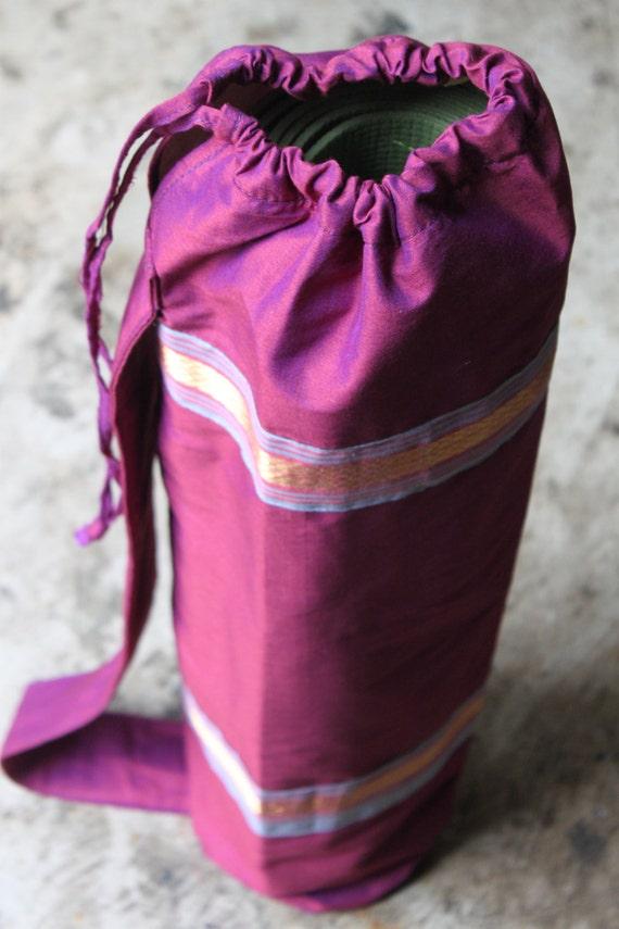 Vintage Sari Yoga Mat Tote Bag 7