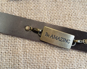 RF339 Be amazing cuff fits up to 8 inches
