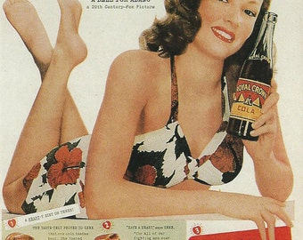 Royal Crown Cola (Gene Tierney) 4x6 Postcard