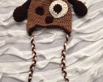 Dog Hat, Puppy Hat, Crocheted Hat, Puppy Dog Hat, Baby Hat, Kids Hat, Toddler Hat, Photography Prop, Winter Gear, Photo Prop, Winter Hat