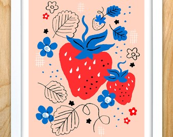 Sweet Strawberry, 8 in x 10 in archival print
