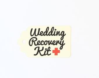 Wedding Recovery Kit Tags, Wedding Survival Kit, Destination Wedding, Bridal Party Favor, Wedding Party Favor, First Aid Kit, DIY Wedding