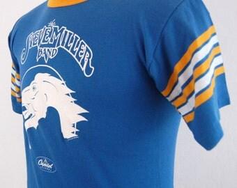 1976 Steve Miller Band Classic Rock Vintage Concert T Shirt Large