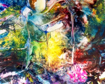"""Colorful Contemporary Prophetic Print of Jesus """"Healing Love"""""""