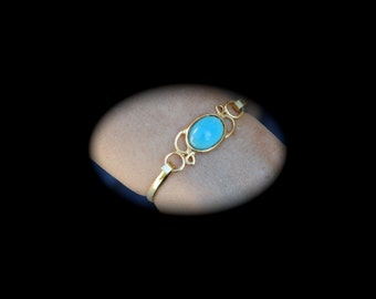 Vintage Blue and Gold Toned Bracelet 1960s