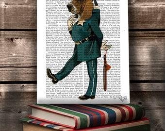 Basset hound art - police officer Basset hound print police gift police art police dog police home décor police nursery police birthday dog