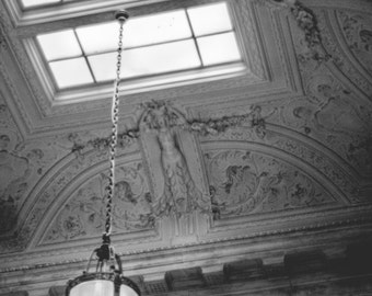 Black and White Fine Art Photography // New York Public Library, Architecture, New York City // Giclée Print