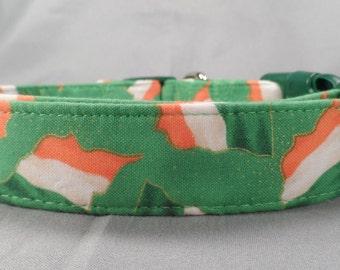 Green Flag of Ireland Irish Dog Collar